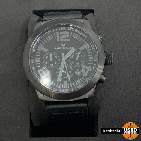 Marc Coblen Horloge | Zwart | NIEUW in doos | Met extra ring | Met garantie
