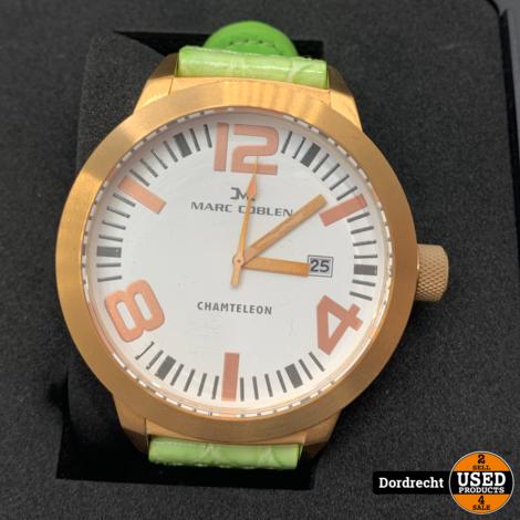 Marc Coblen Horloge | Groene band | NIEUW in doos | Met extra ring | Met garantie