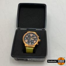 Marc Coblen Horloge | Gele band | NIEUW in doos | Met extra ring | Met garantie