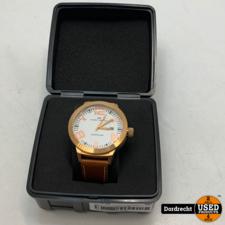 Marc Coblen Horloge | Licht bruine band | NIEUW in doos | Met extra ring | Met garantie