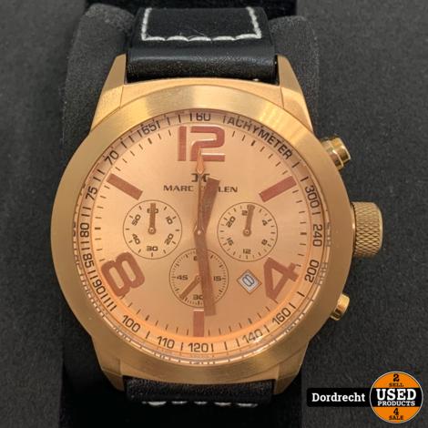 Marc Coblen Horloge | Zwarte band | NIEUW in doos | Met extra ring | Met garantie