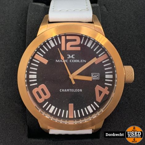Marc Coblen Horloge | Witte band | NIEUW in doos | Met extra ring | Met garantie
