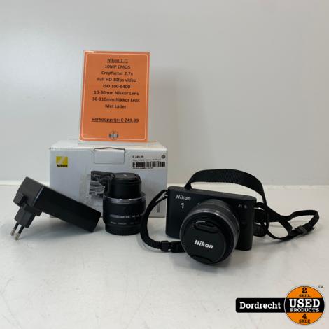 Nikon 1 Digitale Camera | 30-110 Lens + 10-30 Lens | In doos | Met lader | Met garantie