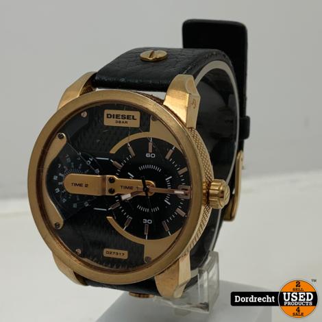 Diezel  DZ-7317 Horloge | Zwart/Goud | Gebruikt | Lege batterij | Met garantie