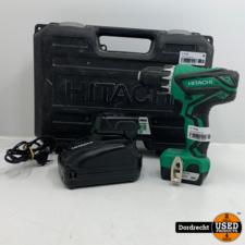 Hitachi DS10DAL Accu boor-schroefmachine   2 acc's + lader   In koffer   Met garantie