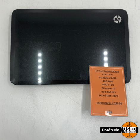 HP Pavilion G6-2304SD Laptop   Intel Core i5 500GB HDD 4GB RAM Windows 10   Met garantie