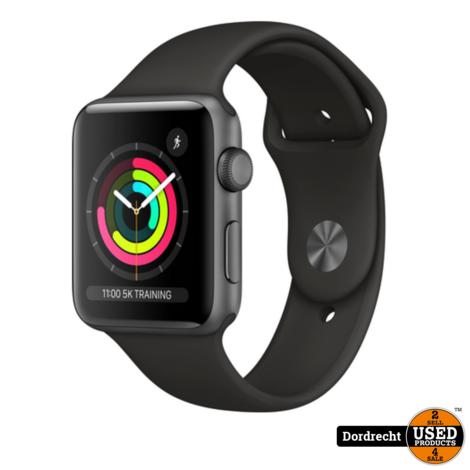Apple Watch Series 3 42MM Space Gray Aluminum Black Sport   Nieuw in seal   Met garantie