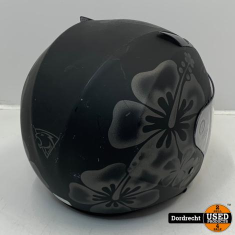 M. Rubert Scooter Helm | Maat XL | Zwart met bloemen |
