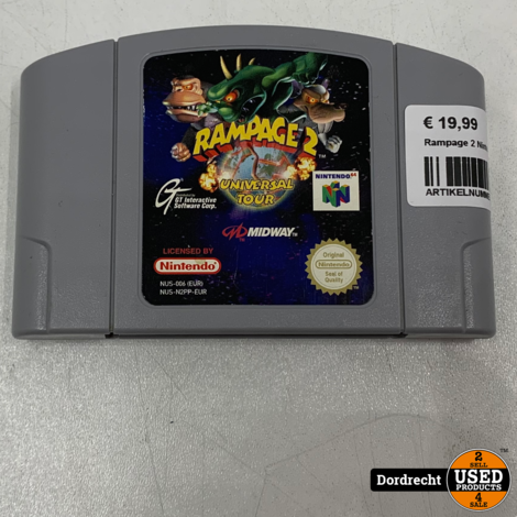 Nintendo 64 spel | Rampage 2