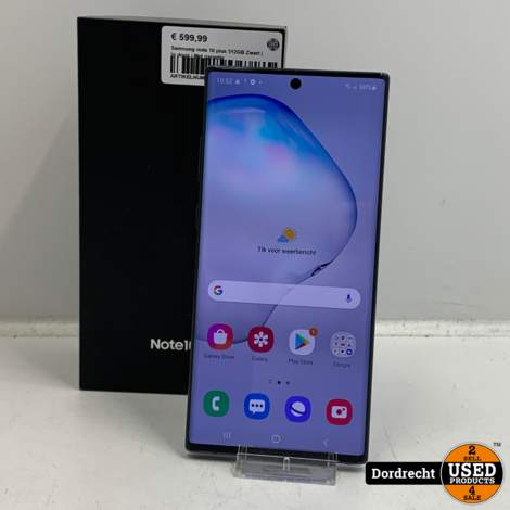 Samsung Note 10 Plus 512GB Zwart | In doos | Met garantie
