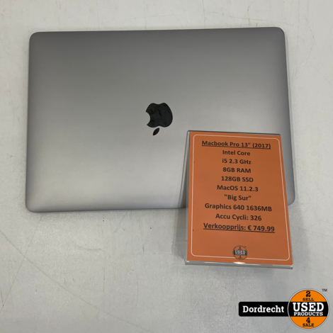 Macbook Pro 2017 Intel Core i5 128GB SSD 8GB RAM Intel Iris Plus Graphics 640 1636MB | Met garantie