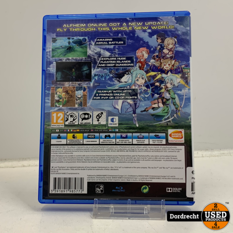 Playstation 4 spel |  Sword Art Online - Lost Song