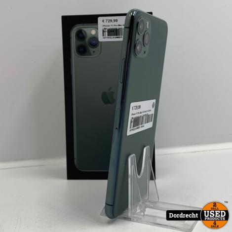 iPhone 11 Pro Max 64GB Groen | In doos | Met originele bon | Garantie tm 24-12-2021