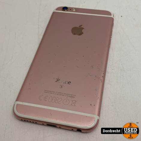 iPhone 6S 16GB Goud   Nieuwe batterij   Schade achterop   Met garantie