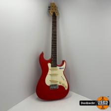Greg Bennett Design Malibu elektrishe gitaar | Rood | Met garantie