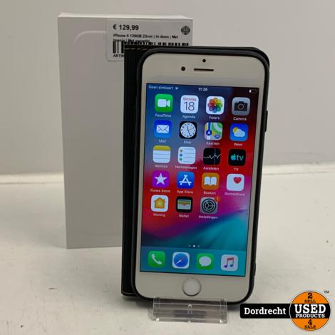 iPhone 6 128GB Zilver | In doos | Met hoesje | Met garantie