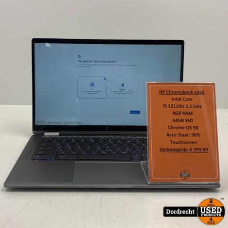 HP Chromebook x360 14C-CA0001ND | Intel Core i3 64GB SSD 4GB RAM | Met garantie