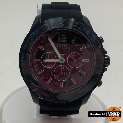 Tutti Milano Horloge TM102 | Zwart | 48mm | NIEUW in doos | Batterij leeg | Met garantie