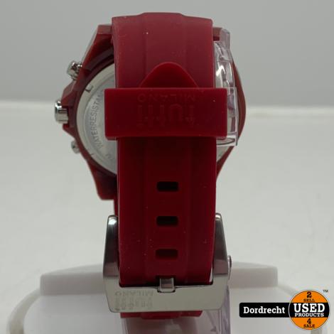 Tutti Milano Horloge TM005 | Rood | 48mm | NIEUW in doos | Batterij leeg | Met garantie