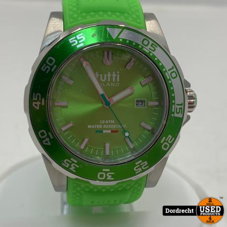 Tutti Milano Horloge TM900 | Groen | 42.5mm | NIEUW in doos | Batterij leeg | Met garantie