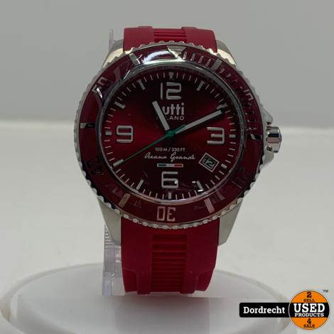Tutti Milano Horloge TM900 | Rood | 42.5mm | NIEUW in doos | Batterij leeg | Met garantie