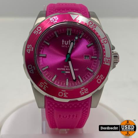 Tutti Milano Horloge TM900 | Roze | 42.5mm | NIEUW in doos | Batterij leeg | Met garantie