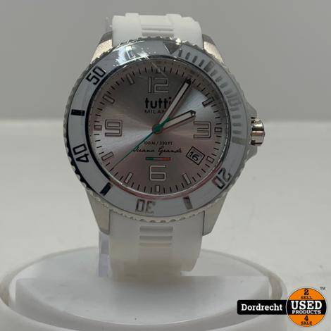 Tutti Milano Horloge TM001 | Wit | 48mm | NIEUW in doos | Batterij leeg | Met garantie
