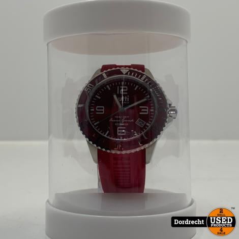 Tutti Milano Horloge TM001 | Rood | 48mm | NIEUW in doos | Batterij leeg | Met garantie