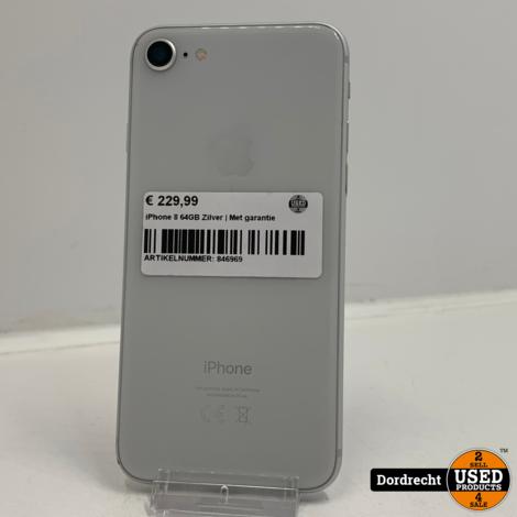 iPhone 8 64GB Zilver | Met garantie