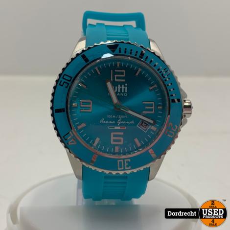Tutti Milano TM001 horloge | Blauw | 48mm | Batterij leeg | Met garantie