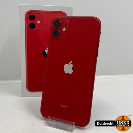 iPhone 11 128GB Rood | In doos | met originele bon | Garantie tot 19-10-2022