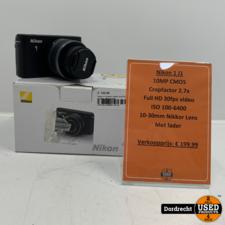 Nikon J1 camera + Nikon 10-30 lens | In doos | Met garantie
