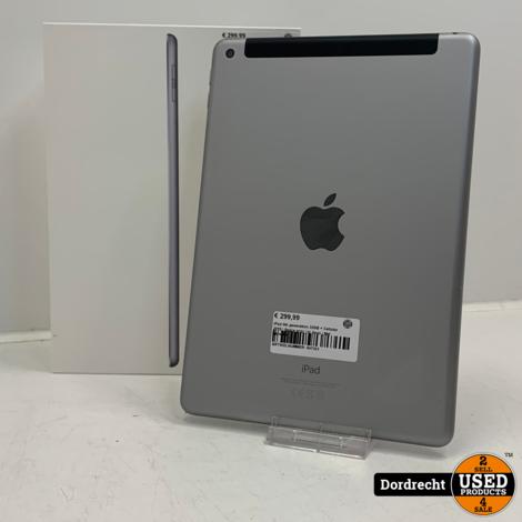 iPad 6th generation 32GB + Cellular 2018   Space gray   In doos   Met garantie