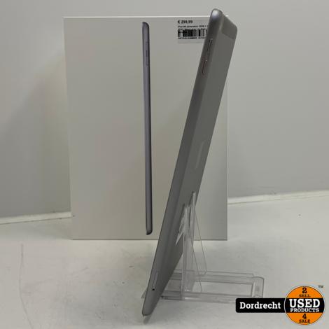 iPad 6th generation 32GB + Cellular 2018 | Space gray | In doos | Met garantie