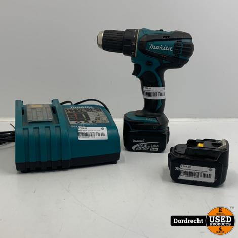 Makita DDF446 Schroefboormachine   Met 2 14.4V accu's en lader   Met garantie