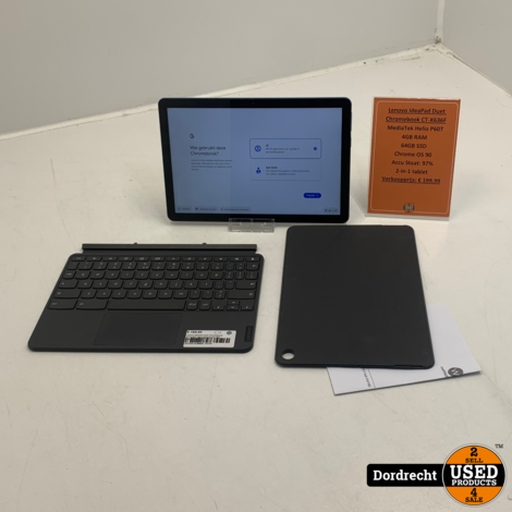 Lenovo IdeaPad Duet Chromebook CT-X636F tablet | Met toetsenbord | Met originele factuur