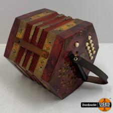 Scholer Concertina / Kleine accordeon | 2 x 10 knoppen | Opknapper
