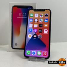 iPhone X 64GB Space Gray   In doos   Met garantie