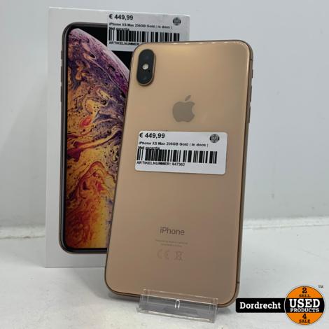 iPhone XS Max 256GB Gold   In doos   Met garantie
