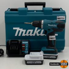 Makita DF347D boor-/schroefmachine   2 accu's + lader   In koffer   Met garantie