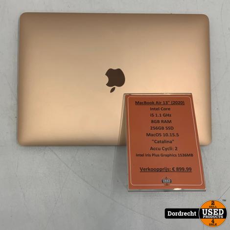 Macbook Air 2020 | Intel core i5 256GB SSD 8GB RAM Graphics 1536 MB | Met garantie