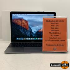 Macbook Air 2015 | Intel Core M 256GB SSD 8GB RAM Intel HD Graphics 5300 | Met garantie