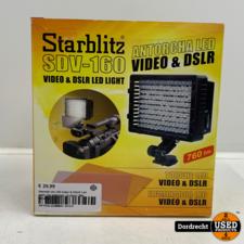 Starblitz sdv-160 Video & DSLR Led light / Flits   Op batterijen   In doos   Met garantie