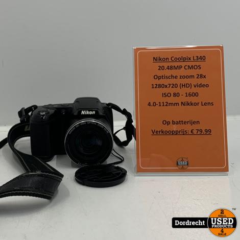 Nikon Coolpix L340 Camera | Op batterij | Met garantie