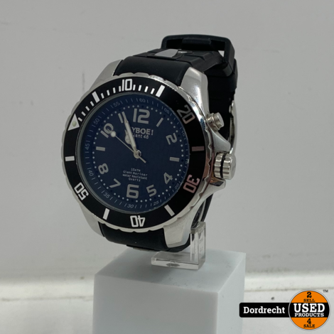 Kyboe Giant 48 horloge zwart | Met garantie
