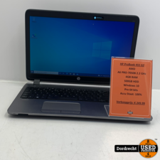 HP ProBook 455 G2 laptop | AMD A6 2.2 GHz 4GB RAM 500GB HDD Windows 10  | Met garantie