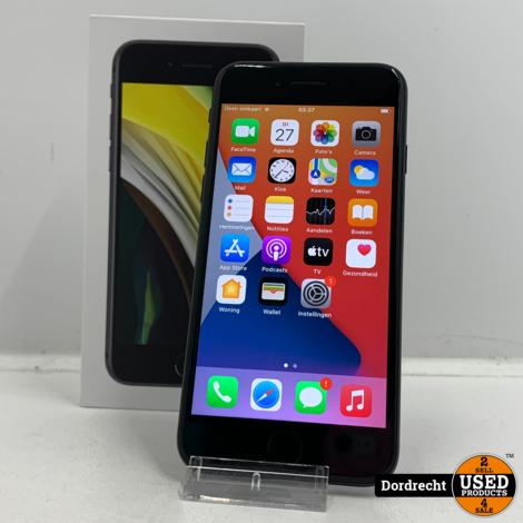 iPhone SE (2020) 64GB Zwart   In doos   Met Apple garantie
