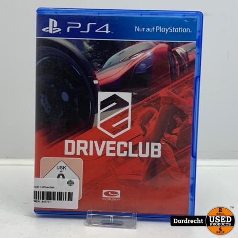 Playstation 4 spel   Driveclub
