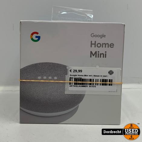 Google Home Mini wit | Nieuw in seal | Met garantie