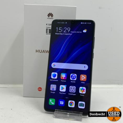 Huawei P30 128GB zwart   In doos   Met garantie